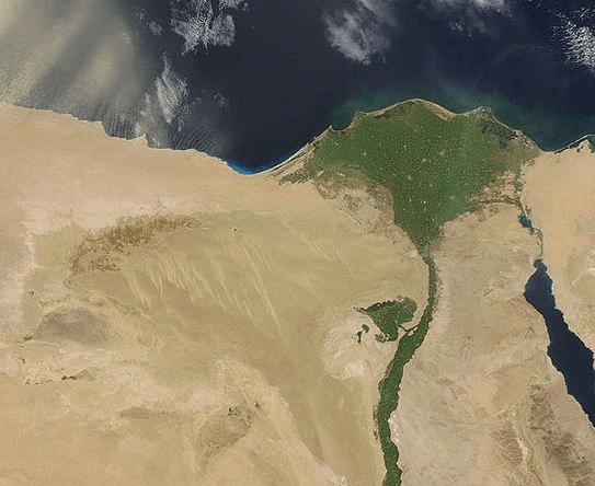 Egypt - Nile River Satellite Photo (NASA)