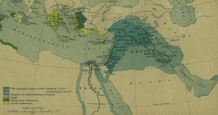 Assyria - Assyrian Empire Map (750-625 BCE)
