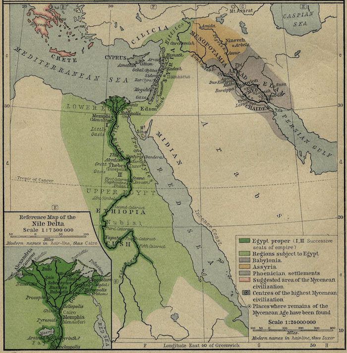 Egypt - Egypt and Mesopotamia Map (1450 BCE)