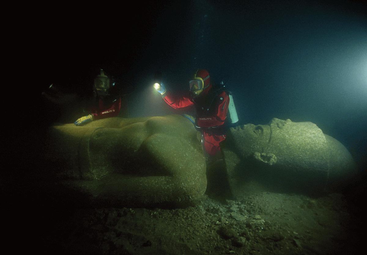 Alexandria - Thonis-Heracleion Statue Underwater
