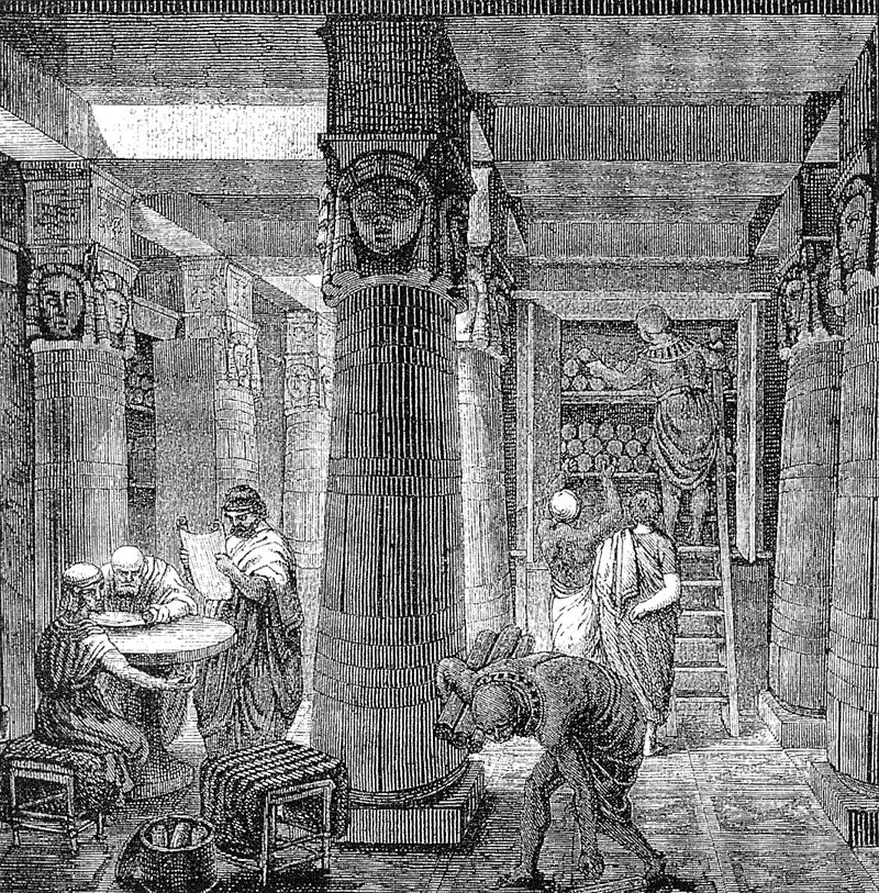 Egypt - Library of Alexandria (19th Century)